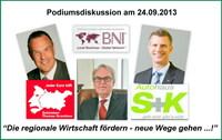Öffentliche Podiumsdiskussion am 24.9.2013 um 19.00 Uhr im Autohaus S K in Neu Wulmstorf