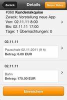 Neue Reisekostenabrechnung mobil für alle Smartphones