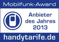 congstar gewinnt zum zweiten Mal den Mobilfunk-Award 2013