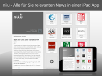 Optimierte Technik, neue Medienpartner - niiu ab sofort für iOS 7 verfügbar