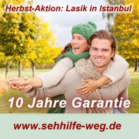Augenlasern mit 10 Jahren Garantie - Komplettangebote im Herbst 2013