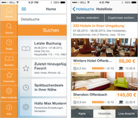 Relaunch der hotel.de-iPhone App für iOS 7 ermöglicht schnellere und übersichtlichere Hotelbuchung