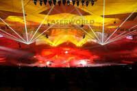 Multimedia-Spektakel im ehemaligen Olympiastadion (Bird Nest / Vogelnest) in Peking