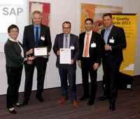 Ausgereifte IT: Schukat mit SAP Quality Award 2013 ausgezeichnet