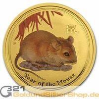 Limitierte Lunar II Maus Goldmünze von 2008 zu Vorzugspreisen