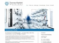Thomas Kleefeld Metallbau mit neuer Webseite und neuem Firmensitz
