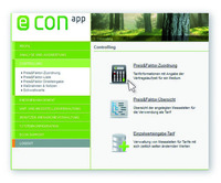 """Neues Release der zuschussfähigen Energie Controlling Software """"econ app"""""""