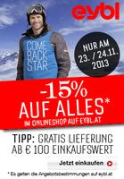 showimage Ab sofort an jedem Sonntag bis Weihnachten -15% auf eybl.at!