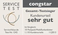 """congstar ist zweifacher Gesamt-Testsieger beim """"ServiceAtlas Mobilfunk 2013"""""""