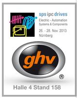 ghv Vertriebs-GmbH auf der SPS in Nürnberg. Halle 4 / Stand 158.