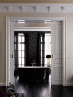 Schwarz-Weiß-Kontraste fürs Bad