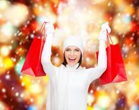 Gute Laune beim Weihnachtseinkauf