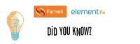 Presseinfo: Wussten Sie schon? Wissenswertes von Farnell element14