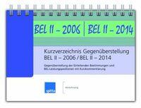 Kurzverzeichnis Gegenüberstellung BEL II - 2006 / BEL II - 2014