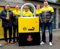 """Burg-Wächter produziert BVB-Schlösser für die gelbe """"Wand der Liebe"""""""