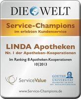 Testsieger! LINDA Apotheken sind Service-Champions
