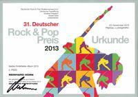 Deutscher Rock und Pop Preis 2013 für Reinhard Horn