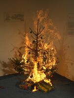 Brandgefahr:  40 Prozent höhere Brandgefahr am Jahresende
