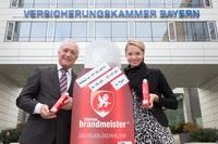Brandmeister Vertriebs GmbH und Versicherungskammer Bayern - Landesbrand Vertriebs- und Kundenmanagement GmbH schließen Vertriebspartnerschaft für den Kleinen Brandmeister® - der Feuerlöschhelfer