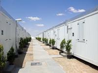 Heinkel Modulbau: mobile Wohnraummodule in der lybischen Wüste