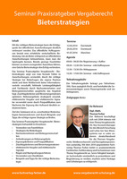 Seminar Praxisratgeber Vergaberecht - Bieterstrategien