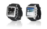 Echte Edelstahl-Smartwatch mit Saphir-Glas