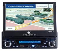 "Creasono 7"" Touchscreen DVD-Autoradio mit GPS & Bluetooth"