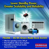 650 V Green-Mode-Abwärtsschalter von Fairchild Semiconductor bietet höchsten Wirkungsgrad mit System-Design-Skalierbarkeit