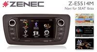 Zenec Z-E5514M: Nachrüst-Navi für Seat Ibiza