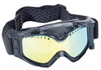 Somikon Premium Skibrille mit integrierter HD-Action-Cam