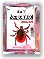 BOO Zeckentest nach Zeckenbiss hilft bei Diagnose einer Borreliose-Infektion