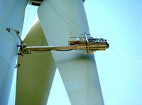 Erste Rotorblattbefahranlage für die Wartung von Offshore-Windkraftanlagen