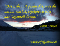 showimage Erfolgszitat von Ernst Crameri