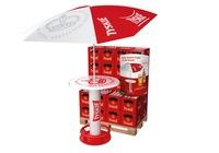 TYSKIE  bringt den Sommer in den Handel: Steh- und Sitzgarnituren mit Sonnenschirm für zuhause gewinnen