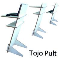 Zum Stehen und Sitzen: Tojo Pult ist ein Verwandlungswunder