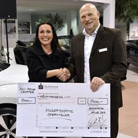 BNI-Chapter übergibt 5000 EURO-Scheck an Sterntaler e.V.