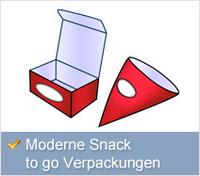 Moderne Fast Food Verpackungen wie in großen Restaurantketten
