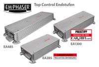 showimage Note 1 für Emphasers neue Top Control Verstärkerserie