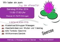 Tag der offenen Tür im Wellness & Massage Zentrum SEEROSE in Ettlingen