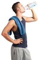 Am Towel Day ein Selfie mit poppigem Handtuch
