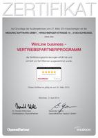 5 Sterne-Zertifikat für mesonic ERP-Vertriebsparterprogramm