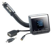 auvisio Plug & Play DAB+/DAB KFZ-/Autoadapter mit FM-Transmitter