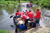 Teambuilding auf dem Fluss: Betriebsausflug für Wasserratten