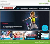 Webdesign und Programmierung für neues Online Fitness Studio
