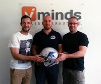 Kickoff für gutes Internetmarketing - viminds - Onlinemarketing unterstützt die Football-Mannschaft der Rostock Griffins