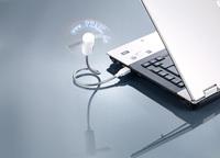 PEARL USB-Ventilator mit programmierbarer Laufschrift