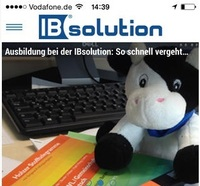 IBsolution Corporate Blog als App ab sofort auch für mobile Endgeräte
