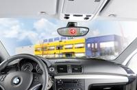 Privates Stoppschild verhindert Einparkdellen: Pfiffiges Warnsystem mit Erschütterungssensor für Garage und Carport