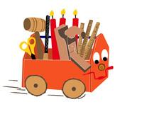 Basti-Bus - die rollende Kinderwerkstatt hält jetzt auch im Frankenland