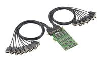 Neue serielle Moxa PCI Express x1 Karten mit zum Patent angemeldeter Technologie